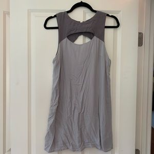 Cooperative Two Toned Grey Mini Dress with Cutouts